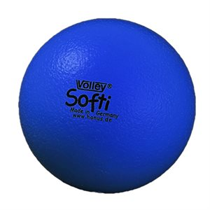Ballon Volley® Softi en mousse, bleu