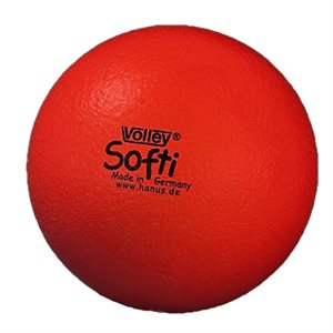 Ballon Volley® Softi en mousse, rouge
