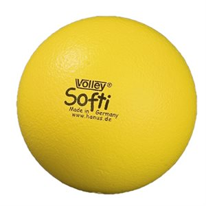Ballon Volley® Softi en mousse, jaune