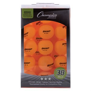 38 balles de tennis de table, oranges