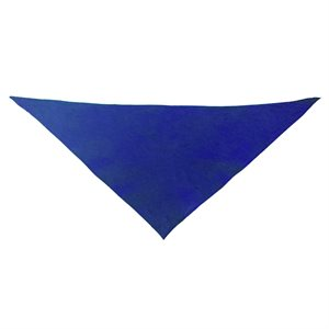 Foulard triangulaire en coton, bleu