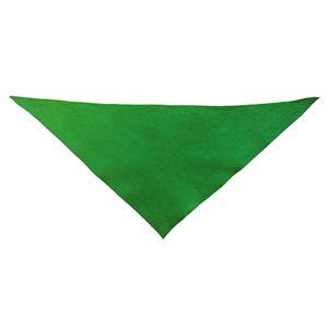 Foulard triangulaire en coton, vert