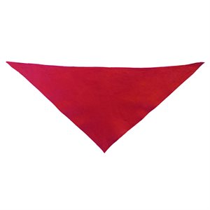Foulard triangulaire en coton, rouge