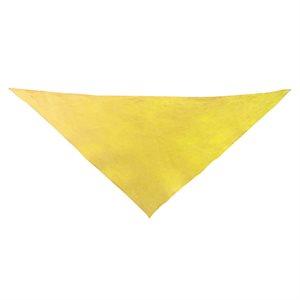 Foulard triangulaire en coton, jaune