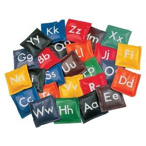 Ens. de 26 sacs de fèves Alphabet