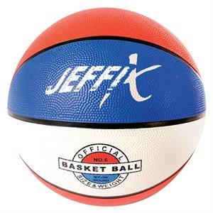 Ballon de basketball en caoutchouc tricolore