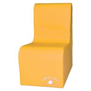 Sofa en mousse 1 place pour enfants, jaune