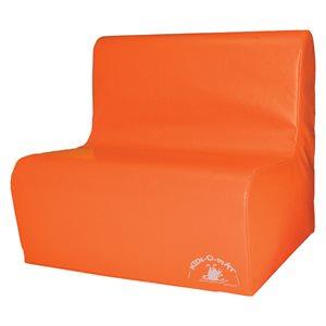 Sofa en mousse 2 places pour enfants, orange