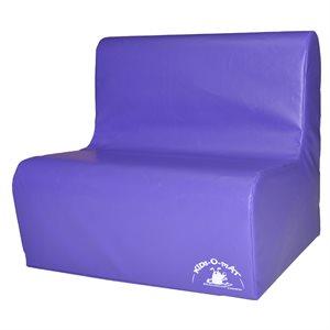 Sofa en mousse 2 places pour enfants, mauve