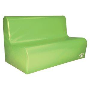 Sofa en mousse 3 places pour enfants, vert pâle