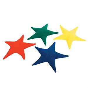 Ens. de 4 sacs de fèves en forme d'étoile