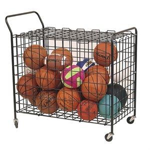 Cage à ballons sur roulettes