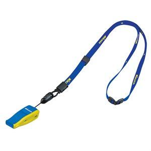 Sifflet logo FIVB avec lanière, bleu / jaune