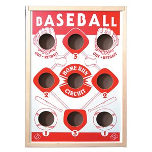 Jeu de poches Baseball, incl. 6 poches