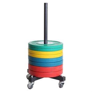 Support vertical sur roues pour plaques pare-chocs