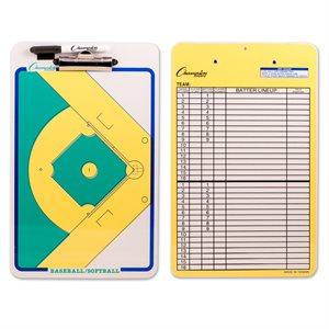 Tableau de jeu, baseball et softball