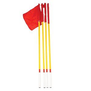 Ens. de 4 drapeaux de coin