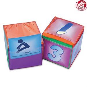 Cube à pochettes en mousse, 32cm