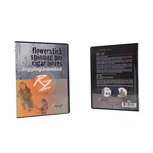 DVD de jonglerie, bâton-fleur / poï / boîte à cigars
