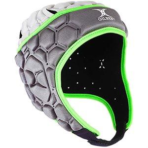 Casque de protection de rugby SR, noir / vert