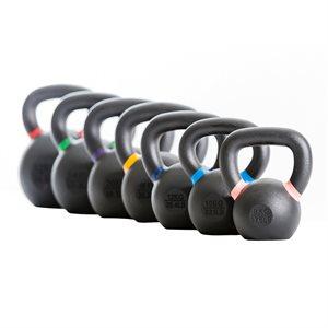 Haltère kettlebell avec marques de couleurs