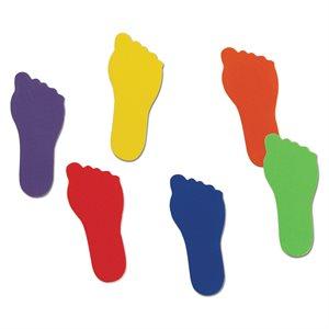 Ens. de 6 paires de marqueurs en forme de pieds