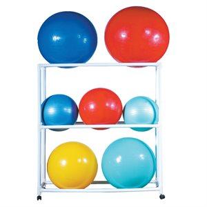 Support à ballons stabilisateurs sur roulettes
