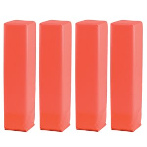 Set of 4 line and end zone foam pylon markers