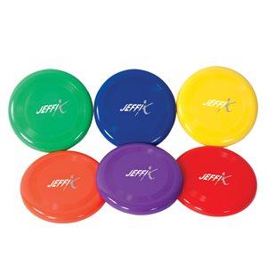 6 frisbees en plastiques