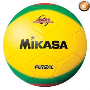 Ballon de futsal, #4, jaune / vert / rouge