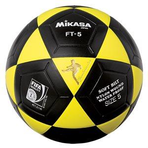 Ballon officiel de footvolley, #5, jaune / noir
