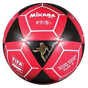 Ballon officiel de footvolley, #5, noir / rouge