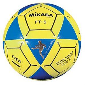 Ballon officiel de footvolley, #5, bleu / jaune