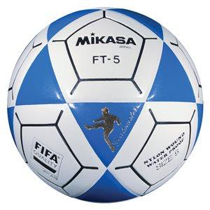 Ballon officiel de footvolley, #5, bleu / blanc