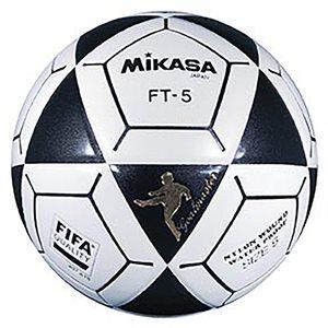 Ballon officiel de footvolley, #5, noir / blanc