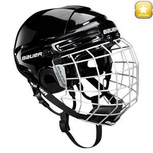Casque de hockey avec grille