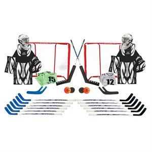 Ens. de 36 produits de hockey, taille jeune