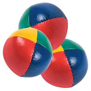 3 balles de jonglerie en vinyle