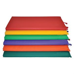 """Ens. de 6 matelas colorés 2'x4'x1"""" en vinyle"""