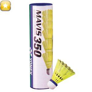 Ens. de 12 volants de badminton, jaunes