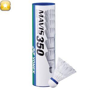 Ens. de 12 volants de badminton, blancs