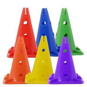 6 cônes perforés en plastique rigide