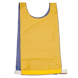 Dossard réversible en nylon, bleu / jaune