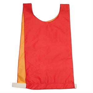 Dossard réversible en nylon, rouge / jaune