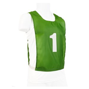 Ens. de 12 dossards numérotés, JR, verts