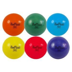 """Ens. de 6 ballons Softex, 8"""""""
