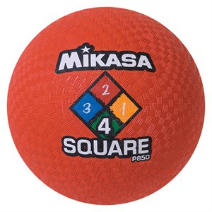 Ballon de jeu Four Square, rouge