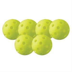 6 balles de Pickleball intérieur