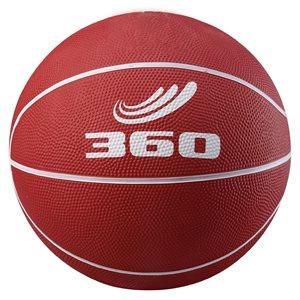 Ballon de mini-basket en caoutchouc, rouge