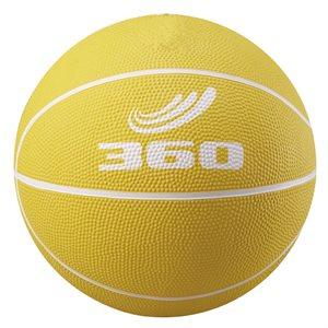 Ballon de mini-basket en caoutchouc, jaune